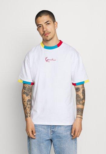 SMALL SIGNATURE TEE UNISEX  - T-shirt imprimé - white