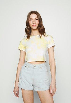 Print T-shirt - yellow/white