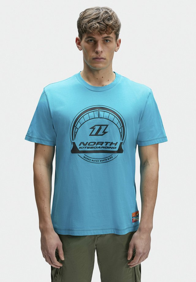 T-shirt con stampa - teal