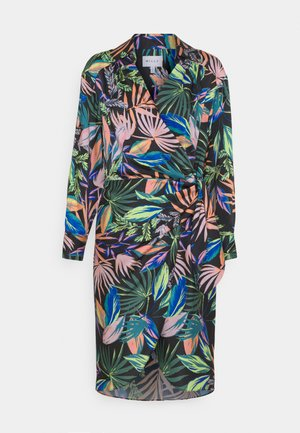 JORDAN TROPICAL PALM DRESS - Day dress - black