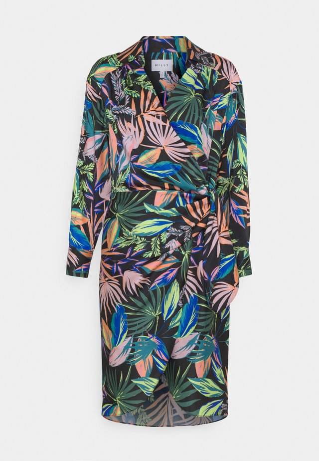 JORDAN TROPICAL PALM DRESS - Sukienka letnia - black