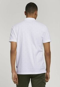 TOM TAILOR DENIM - Polo shirt - white mini palm leaf print - 2