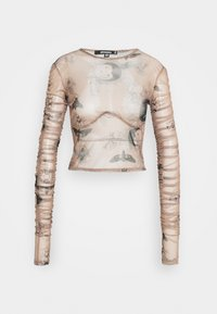 Missguided - KXMG ALL OVER PRINT TOP - Maglietta a manica lunga - tobacco - 0