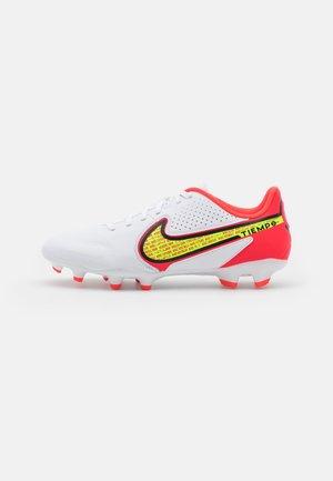TIEMPO LEGEND 9 ACADEMY FG/MG - Voetbalschoenen met kunststof noppen - weiß/gelb/rot