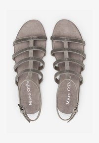 Marc O'Polo - MIT PERLEN-STICKEREI - Sandals - dark grey - 1