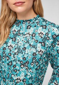 Q/S designed by - Long sleeved top - turquoise aop - 4