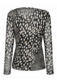 Alba Moda - Long sleeved top - schwarz,weiß,taupe - 6