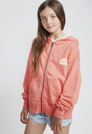 BRIGHT LIGHT - Zip-up hoodie - sunkissed coral