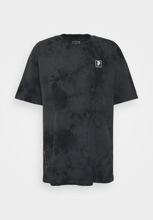 WASHED TEE - T-shirt con stampa - black