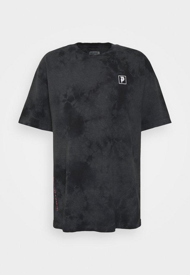 WASHED TEE - Print T-shirt - black