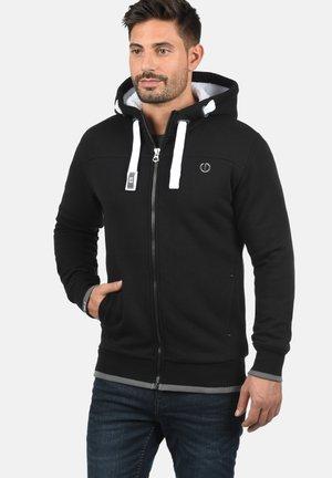 BenjaminZip Pile - Zip-up hoodie - black pil