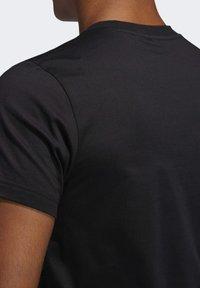 adidas Performance - DAME LOGO T-SHIRT - Print T-shirt - black - 7