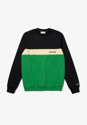 Sweatshirt - bleu marine / vert / beige