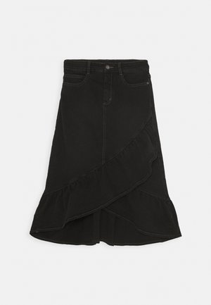 BELINDA - A-line skirt - black denim