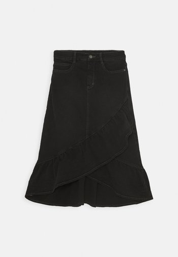 BELINDA - A-line skirt - black denim