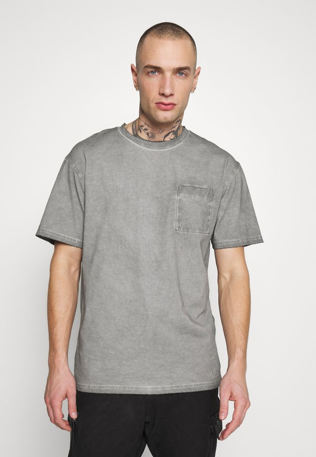 ALESSIO - T-shirt imprimé - vintage light grey