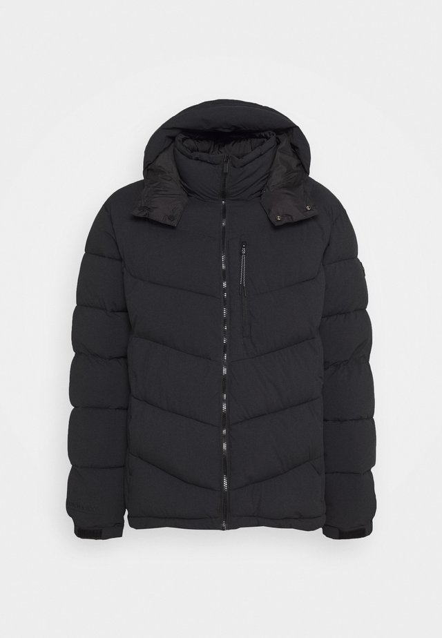 REPREVE MID-LENGTH QUITLED PADDED JACKET WITH CONTRAST HOOD - Giacca invernale - night