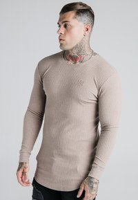 SIKSILK - LONG SLEEVE BRUSHED JUMPER - Strikpullover /Striktrøjer - beige - 0