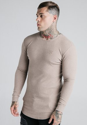 LONG SLEEVE BRUSHED JUMPER - Jumper - beige