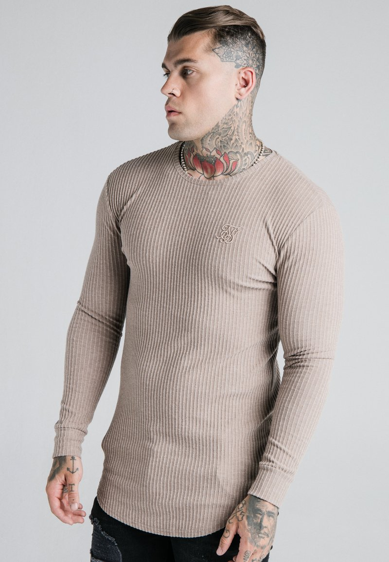 SIKSILK - LONG SLEEVE BRUSHED JUMPER - Strikpullover /Striktrøjer - beige