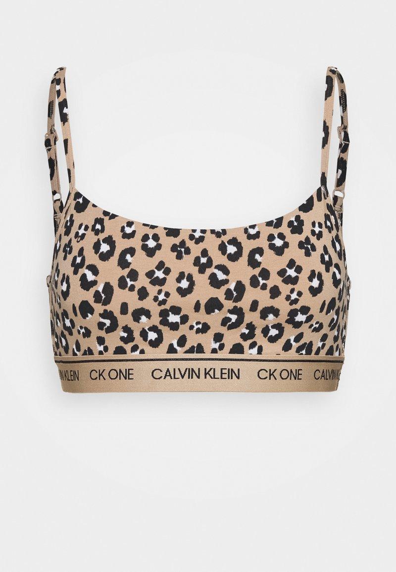 Calvin Klein Underwear - ONE PRIDE CAPSULE UNLINED BRALETTE - Topp - light brown