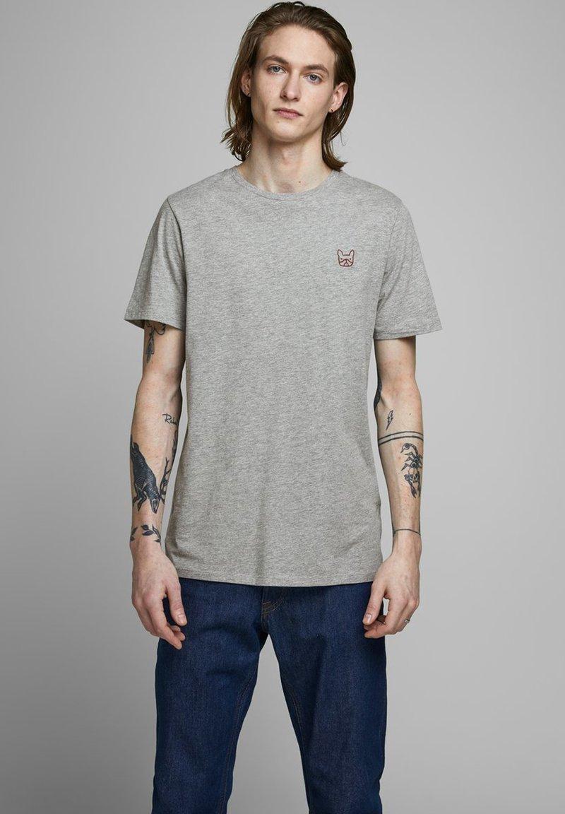 Jack & Jones - T-shirt - bas - light grey melange