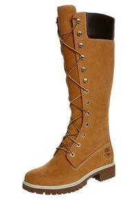 Timberland - Šněrovací vysoké boty - wheat nubuck - 0