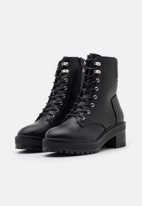 Even&Odd Wide Fit - Lace-up ankle boots - black - 2