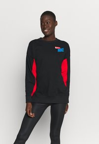 Nike Performance - DRY GET FIT FC  - Sweatshirt - black/chile red/white - 0