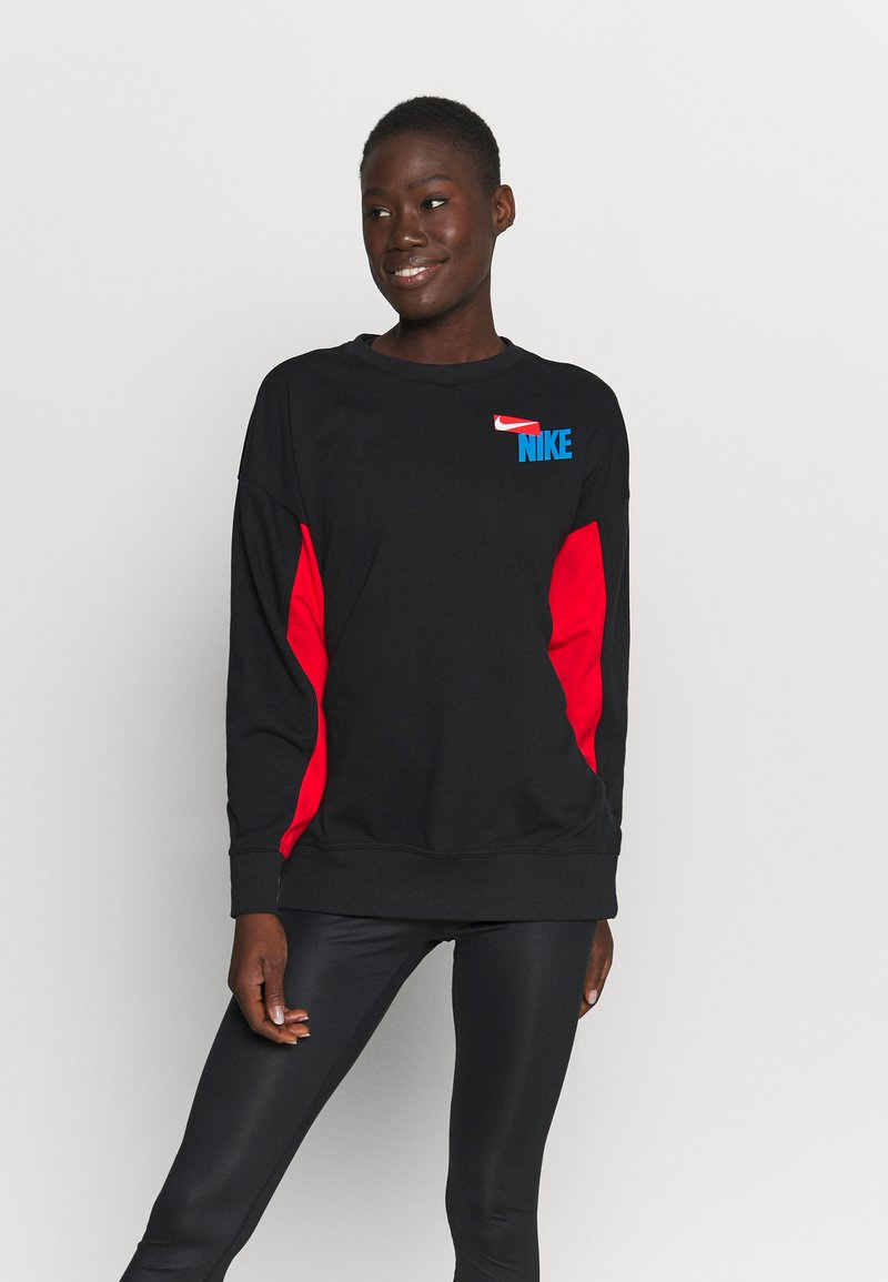 Nike Performance - DRY GET FIT FC  - Sweatshirt - black/chile red/white