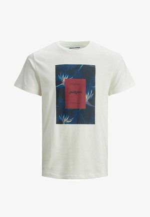 JORFLORALL - T-shirt con stampa - cloud dancer