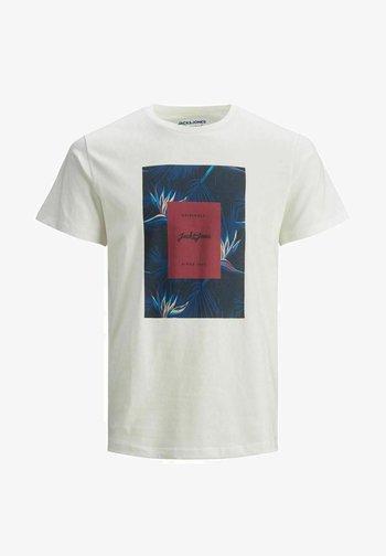 JORFLORALL - Print T-shirt - cloud dancer