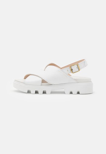 PIAVE - Platform sandals - white