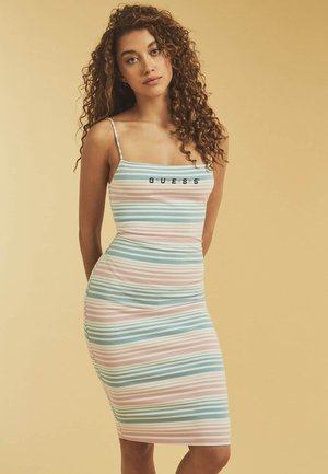 Korte jurk - mehrfarbig grundton blau