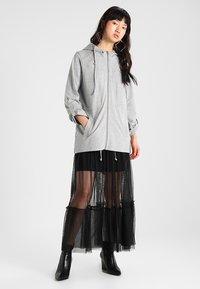 Urban Classics - LADIES TERRY  - Zip-up hoodie - grey - 1