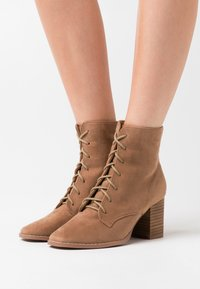 Rubi Shoes by Cotton On - MARCELLE LACE UP - Ankle boots - taupe - 0
