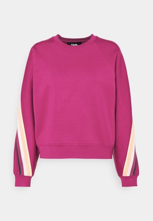 DOUBLE JERSEY TAPE SWEATSHIRT - Sweatshirt - fuchsia