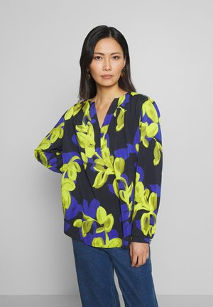 Blouse - dark blue/yellow