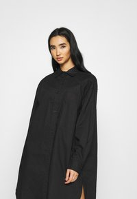 Monki - CAROL DRESS - Shirt dress - black dark - 4