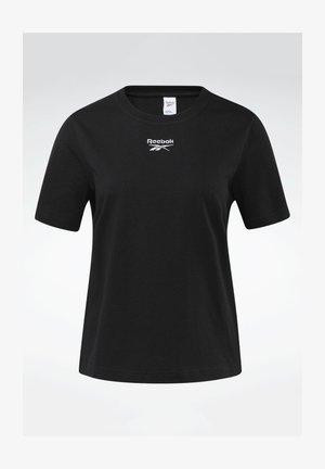 CLASSIC SMALL LOGO CASUAL SHORT SLEEVE - Print T-shirt - black
