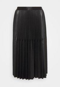 OKILI - Pleated skirt - black
