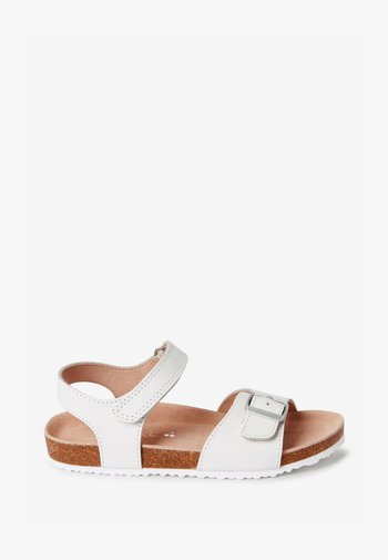 CORKBED  - Ankle cuff sandals - white