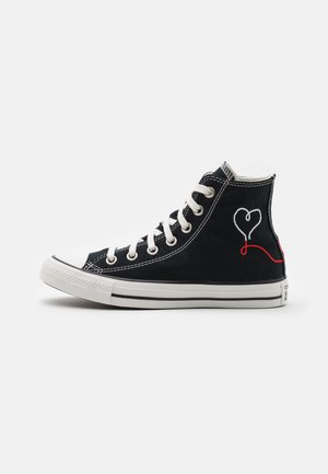 CHUCK TAYLOR ALL STAR UNISEX - High-top trainers - black/vintage white/egret
