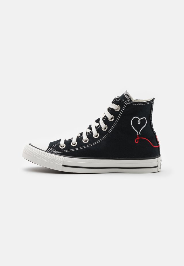 CHUCK TAYLOR ALL STAR UNISEX - Höga sneakers - black/vintage white/egret