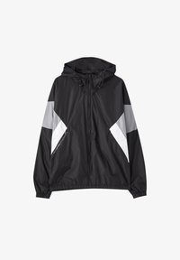 PULL&BEAR - Waterproof jacket - black - 4