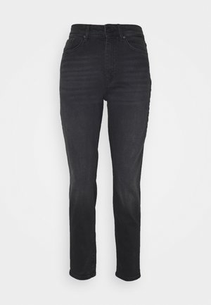 ONLVENEDA LIFE MOM - Straight leg jeans - black denim