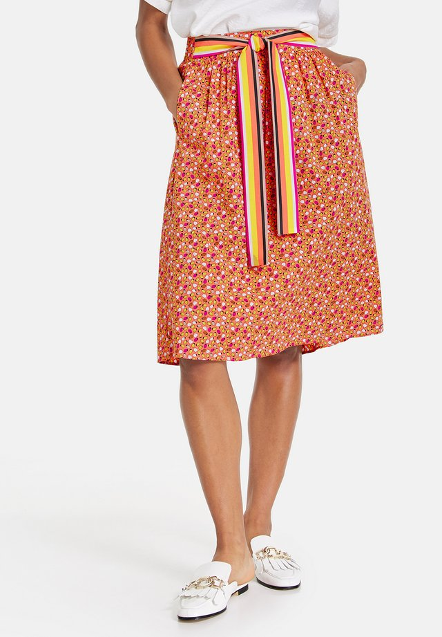 A-line skirt - papaya gemustert