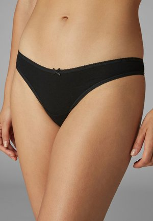 COTTON KNICKERS SEVEN PACK-THONG - Thong - black