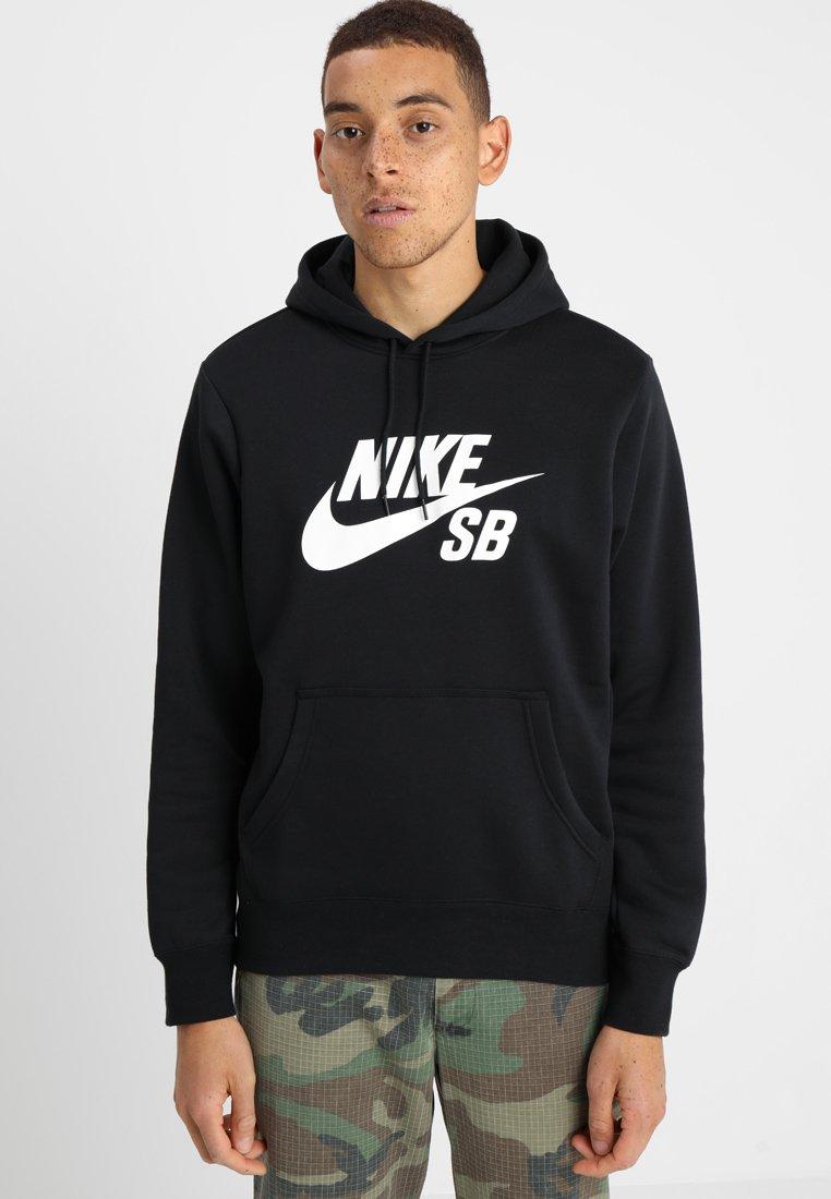 Nike SB - ICON HOODIE PO ESSNL UNISEX - Hættetrøjer - black/white