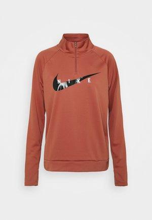 RUN MIDLAYER - Sports shirt - canyon rust/black